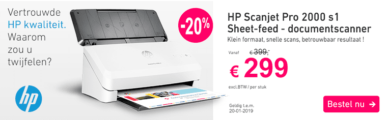 HP scanner banner