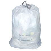 Sac poubelle blanc à liens coulissants Brabantia 20 litres - Colis de 20