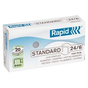 Box of 1000 staples Rapid 24/6 galvanized
