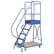 Ladder met wieltjes 5 treden