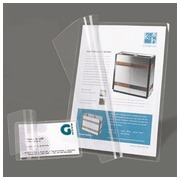 Packet of 10 plasticization sleeves for badges. 6,6 x 10 cm