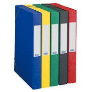 Chemise box carte Eurobox Elba 24 x 32 cm dos 4 cm couleurs assorties