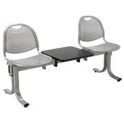 Vega 2-Sitzer-Bank mit Ablage 150 cm - Aluminium Metall