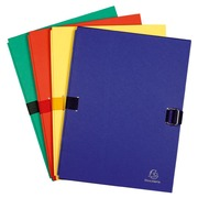 Classic expandable folders with flap, assorted colours