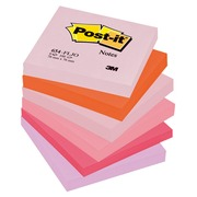 Notes repositionnables couleurs Plaisir Post-it 76 X 76 mm - bloc de 100 feuilles