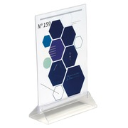 Literature display case, double-sided