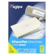 Doos 800 adresetiketten Agipa 119003 wit 105 x 70 mm voor laser en inkjet