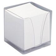 Bloc cube plexi avec une recharge papier blanc 90 x 90 mm - bloc de 580 feuilles