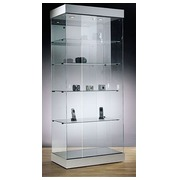 Display case in translucent glass aluminium