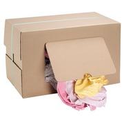 Fijne textieldoeken in katoen assortiment - doos van 9,5 kg