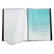 Schutzabdeckungen für Dokumente Bruneau PVC matt A4 30 Hüllen - Schwarz