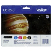 Pack 4 cartridges Brother LC1240 black + colors
