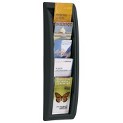 Wall display Quickfit 1/3 A4, 5 slots, black