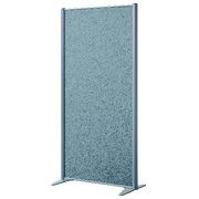 Akoestische scheidingswand hoogte 160 x 81 cm stof blauw