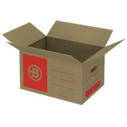 Caisse déménagement Bruneau kraft brun double cannelure L 55,5 x l 33 x H 30 cm