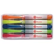 Etui 5 farbige Markierstifte mit flüssiger Tinte Bruneau - Keilspitze