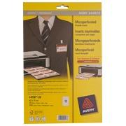 Inserts microperforés Avery pour badge 40 x 75 mm - Boîte de 240
