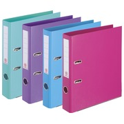 Lever archive files in assorted, trendy colours back 5 cm