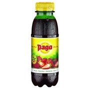 Packung mit 12 Flaschen 33 cl Pago Erdbeer