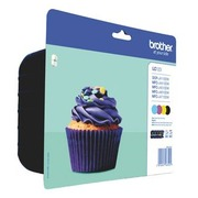 Pack of 4 cartridges Brother LC123 black + colours