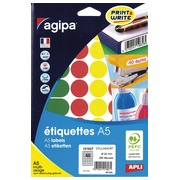 Pack 280 runde Etikette Agipa Diameter: 24 mm 101827 Sortiment