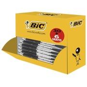 Pack de 30 stylos bille Atlantis Bic noirs rétractables + 6 offerts