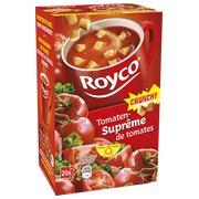 Karton mit 20 Beuteln Royco Minute Soup Tomaten und Croutons