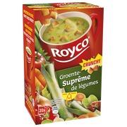 Karton mit 20 Beuteln Royco Minute Soup Gemüse und Croutons
