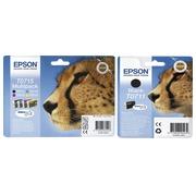 Epson big pack T0711 + T0715 1 cartouche noire + 1 multipack noir + couleur haute capacité pour imprimante jet d'encre