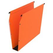 Suspension files for cabinets 33 cm in kraft Premium Bruneau bottom 50 mm orange