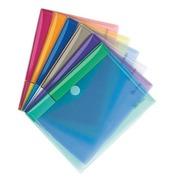 Chemise de présentation à velcro Tarifold 17,8 x 23 cm couleurs assorties - Paquet de 6