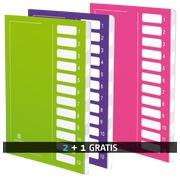 Pack mit 2 Register Extendos 12 Unterteilungen + 1 gratis