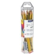 Pak van 12 potloden Staedtler Noris HB + gom