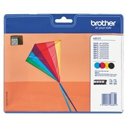 Brother LC 223 pack 4 cartridges zwart + kleur voor inkjetprinter