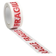 Adhesive tape in white polypropylene with print