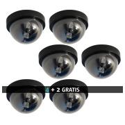 Pacck 4 Sicherheitskamera-Imitate + 2 gratis