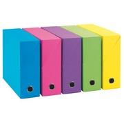 Archiv-Schachtel Adine, Karton mit Rücken 12 cm - farbig sortiert