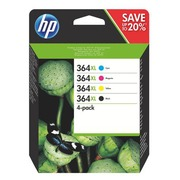 Pack HP 364 XL cartridges 4 colours high capacity for inkjet printer