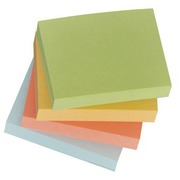 Post-It blok gerecycleerd 38 x 51 mm assortiment pastelkleuren