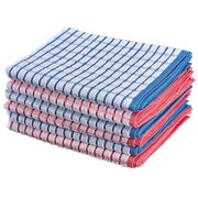 Pack of 6 multicolour towels 100% cotton