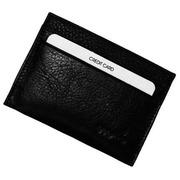 Kaarthouder - zwart leer - 4 kredietkaarten - anti-RFID