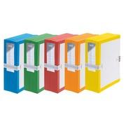 Archiefmappen Fast met balg - grote capaciteit met riemsluiting - rug 10 cm geassorteerde kleuren