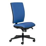 Bureaustoel met stoffen rug en zitting Bruneau Activ' blauw - Permanent contact