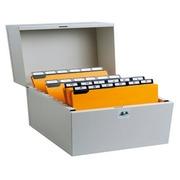 Karteikassette aus Metall, 174x240x210mm.
