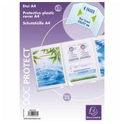 Sachet de 10 étuis de protection triples PVC Haute Qualité 30/100e - A4