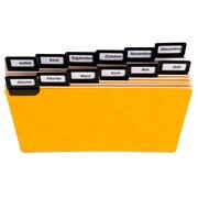 Paquet de 24 guides alphabétiques en carte à onglets métalliques, pour fiches 105x150mm