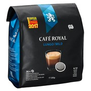 Soepele koffiepads Café Royal Lungo Mild - Zak van 36