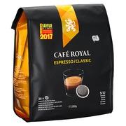 Weiche Kaffeepads Café Royal Espresso - Beutel von 36