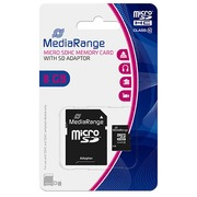 MICRO SDHC Memory Card with Adaptor 8 Go - CLass 10