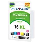 Pack cartouche Amor compatible Epson 16 - 5 couleurs pour imprimante jet d'encre